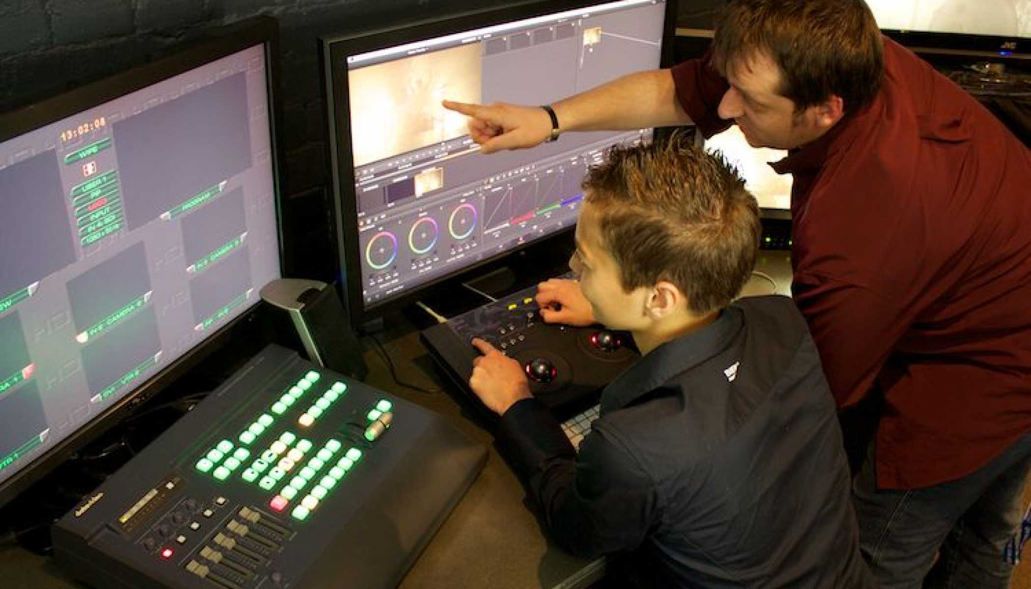 SAE staff Post Production Edit Suite 1